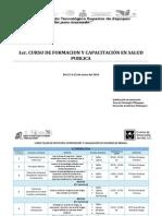 1er. CURSO DE FORMACION Y CAPACITACIÓN EN SALUD PUBLICA  (1)