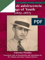 Cantos de Adolescencia / Songs of Youth (1932-1937)