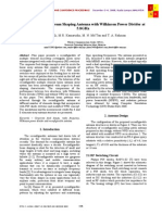 Reconfigurable beam shaping antenna with Wilkinson Power Divider at 5.8GHz.pdf