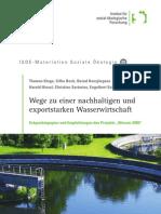 Wege zu einer nachhaltigen und exportstarken Wasserwirtschaft