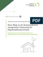 Neue Wege in der Kommunikation energetischer Sanierung für Eigenheimbesiter/-innen