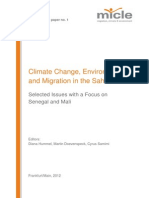 Climate Change, Environment and Migration in the Sahel. Selected Issues with a Focus on Senegal and Mali