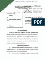 QUI TAM Complaint in UNITED STATES OF AMERICA ex rel. BLAKE PERCIVAL v. U.S. INVESTIGATIONS SERVICES, INC.
