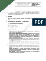 Hseq-p-14 Desinfeccion y Analisis de Calidad de Agua Potable