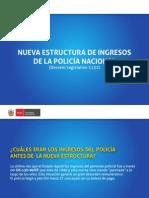 Nueva Estructura de Ingresos de la Policía Nacional del Perú