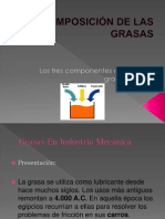 COMPOSICIÓN DE LAS GRASAS