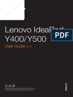 Lenovo Y500 User Manual