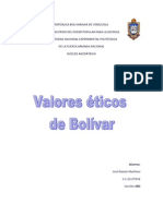 Valores éticos de Bolívar