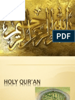Some Facts about Holy Quran