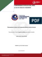 Garcia Davila Jesus Planeamiento Corporacion Minera Castrovirreyna