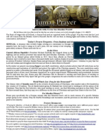 Jumaa Prayer Bulletin 24 January 2014