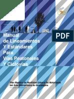 Manual de Lineamientos y Estandares Para Vias Peatonales y Ciclovias