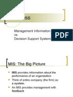 DSS vs. MIS