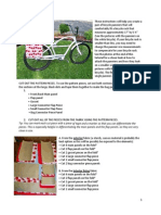 Bicycle Pannier Bag Instructions and Pattern