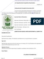 Ssc Lower Division Grade Ltd Departmental Competitive Examination 2014