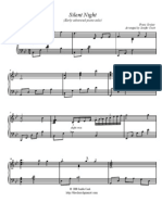Silent -Night Early Advanced Piano Solo Free