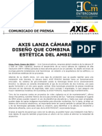NP Axis Communications - Axis lanza cámara con diseño que combina con la estética del ambiente