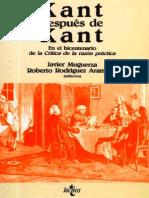 Kant Despues de Kant Roberto Aramayo