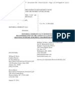 Motorola's Motion for Reconsideration