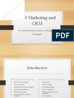 B2B Marketing and CRM