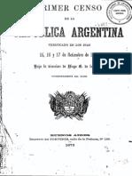 Censo de Argentina de 1869.