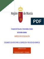 86615-DOCUMENTO DE APOYO A LA REVISIÓN DE HORARIOS -INFANTIL Y PRIMARIA- 2013-2014