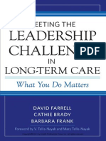 Meeting the Leadership Challenge in Long-Term Care