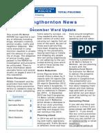 Newsletter 1st Jan 2014