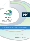 Sponsorship Packet for Pacific Arts Movement