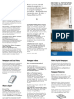 Uva Genealogy Newspaper Brochure 2013