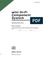 SONY System Manual
