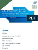 6 MPI on Intel Xeon Phi Coprocessor