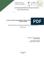 O USTR E A INSTITUCIONALIDADE DA POLÍTICA EXTERNA COMERCIAL DOS ESTADOS UNIDOS