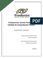 PRODECON. Transparencia Secreto Fiscal Uso Indebido Comprobantes.pdf