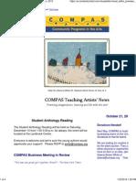 compas teaching artists newsletter   oct  2013