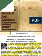 Posiciones del Paciente Durante el Acto Anestésico