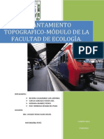 LEVANTAMIENTO TOPOGRÁFICO MODULO DE LA FACULTAD DE ECOLOGIA