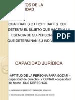 CAPACIDAD JURÍDICA - INCAPACES