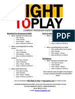 Right to Play Events