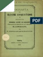 Biografia Del Ilustre Conquistador Lopez de Legazpi