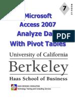 Access 07 Pivot Tables