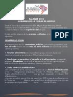 Balance de Gobierno 2013 - Ciudad de México
