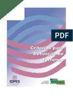 Critérios para definição de terrenos - IOPES