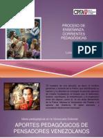 Aportes pedagógicos de pensadores Venezolanos.