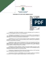 PORTARIA Nº 104, DE 25 DE JANEIRO DE 2011