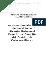MANUAL  DE OPERACIÓN Y MANTENIMIENTO- ALCANTARILLADO
