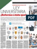 Nueva Ley Universitaria ¿Reforma o Status Quo?
