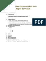 El problema del narcotráfico en la Región de Ucayali