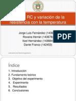 Circuito RC y variación de la resistencia