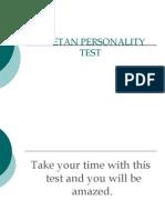 PERSONALITY TEST, Tibetian way